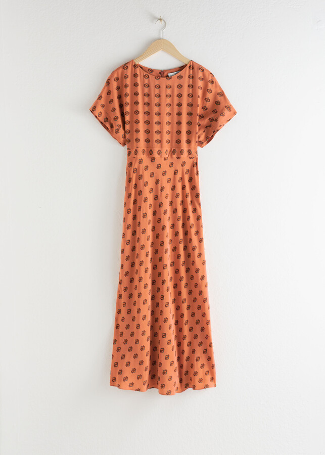 Thumbnail for your product : And other stories Short Sleeve Printed Maxi Dress