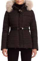 Gorski Apres-Ski Leopard-Jacquard Fur-Trim Jacket