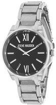Steve Madden Analog Alloy Strap Chainlink Watch