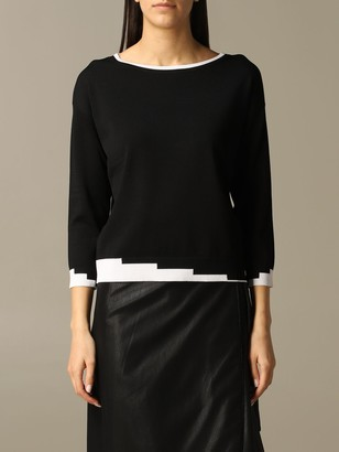 Armani Collezioni Armani Exchange Sweater Armani Exchange Sweater With Contrasting Geometric Edges