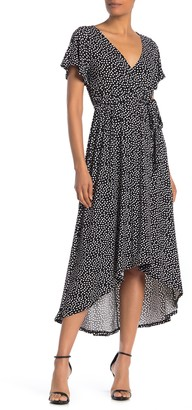 WEST KEI Polka Dot High/Low Waist Tie Dress