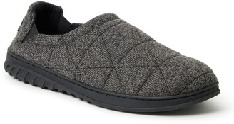 Dearfoams Men's FreshFeel Quilted Closed Back Slippers