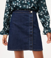 LOFT Denim Wrap Shift Skirt
