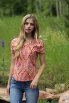 Shabby Apple MIA Short Sleeve Shirt Pink