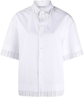 Neil Barrett Oversized Layered Shirt