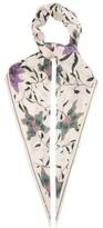 Isabel Marant Alia Botanical-print Silk-habotai Scarf - Womens - Cream Print
