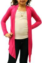Dinamit Jeans Big Girls' Long Sleeve Flyaway Cardigan Sweater Hot Pink