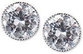 Lauren Ralph Lauren Silver-Tone Crystal Bezel Stud Earrings