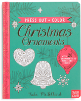 Kids Press Out And Color Christmas Ornaments Book