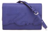 Karl Lagerfeld Women's K/Signature Shoulder Bag Blue