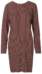 Libertine-Libertine Wine Stripe Enough Dress - XS - Red/Purple/White