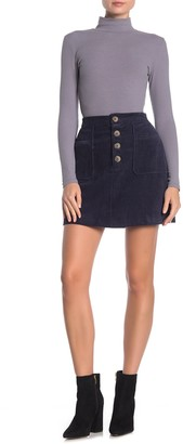 Blu Pepper Corduroy Patch Pocket Mini Skirt