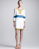 Philosophy di Alberta Ferretti Embroidered Muslin Tunic Dress