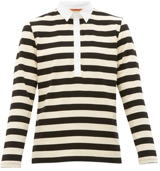 Barena Venezia - Saraca Striped Cotton Rugby Shirt - Mens - Beige Multi