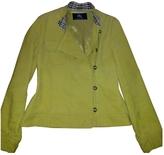 Burberry Yellow Cotton Jacket coat