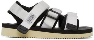 Suicoke White Kisee-V Sandals