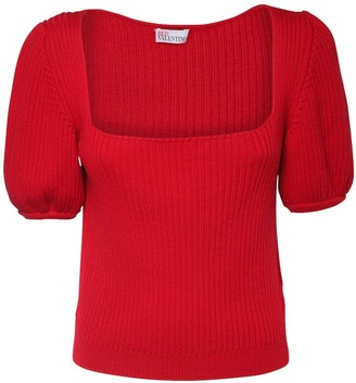 RED Valentino Ribbed Wool Sweater