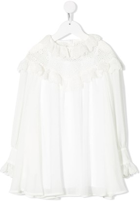 Philosophy Di Lorenzo Serafini Kids Lace Ruffled Dress