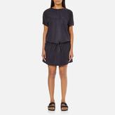 Maison Scotch Women's Straight Fit Zipper Dress Blue