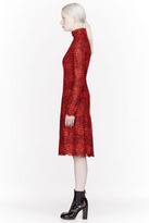 Marc by Marc Jacobs Red Embroidered Lancaster Lace Dress
