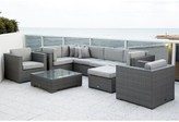 International Home Miami Southampton 9 Piece Sectional Seating Group Set with Cushions Cushion Color: Deluxe Sunbrella Spectrum Dove