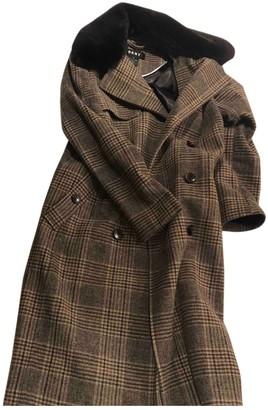 DKNY Brown Wool Coats