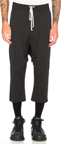 Rick Owens Cropped Sweatpant in Black
