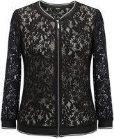 MSSHE Women's Plus Size Lace Long Sleeve Jacket