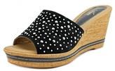 Azura Listen Women Open Toe Suede Wedge Sandal.