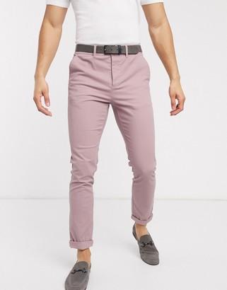 ASOS DESIGN skinny chinos in pink