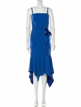 Jonathan Simkhai Square Neckline Knee-Length Dress Blue