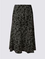 Marks and Spencer Paisley Print A-Line Midi Skirt