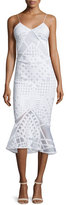 Jonathan Simkhai Sleeveless Bonded Burnout Midi Gown, White