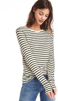 Gap Stripe long sleeve feather tee