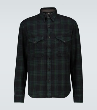 Ralph Lauren RRL Cotton twill plaid shirt