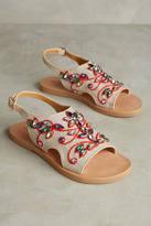 Coral Blue Gem Slingback Sandals