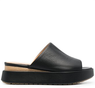 Paloma Barceló Chunky Slip-On Leather Sandals