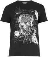 Alexander McQueen London map-print cotton T-shirt