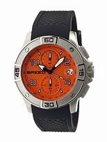 Breed Raylan Chronograph Orange Dial Black Silicone Men's Watch