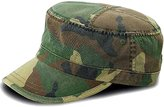 Luxury Divas Camouflage Print Cotton Military Soldier Cap Hat