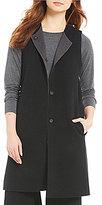 Eileen Fisher Round Neck Knee Length Vest