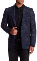 Robert Graham Seligman Floral Two Button Peak Lapel Sport Coat