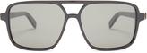 Saint Laurent Square aviator-frame acetate glasses