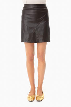 Moon River Brown Leather Skirt