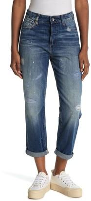 G Star Midge High Distressed Boyfriend Jeans