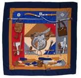 Hermes Tout Cuir Silk Scarf