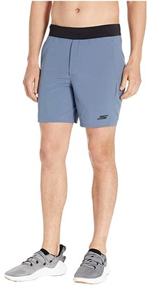 Skechers Skechweave 7 Movement Shorts (Blue/Gray) Men's Shorts