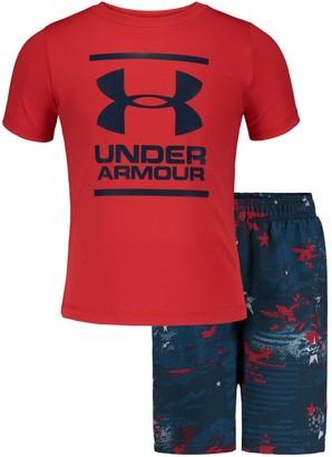 Under Armour Boys' Pre-School UA Camo Stars Volley Set