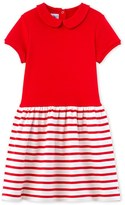 Petit Bateau Girls dress in two materials