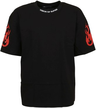 Vision of Super Black T-shirt With Rock Tribute